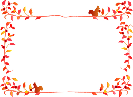 Autumn leaves and squirrel frame