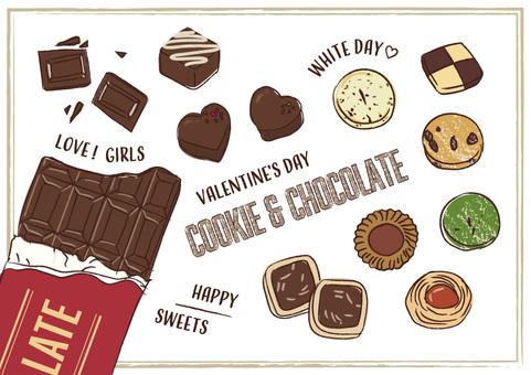 手寫的餅乾巧克力糖