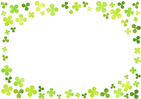 Watercolor touch clover frame 3