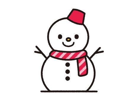 Snowman (red)