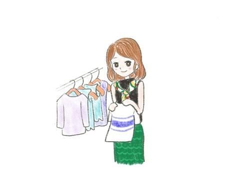 Apparel female sales clerk