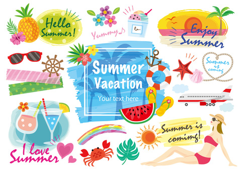 Summer vacation frame