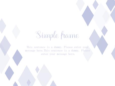 Diamond frame 01 / purple