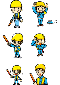 Illustration of guidance and guards of construction 6 patterns