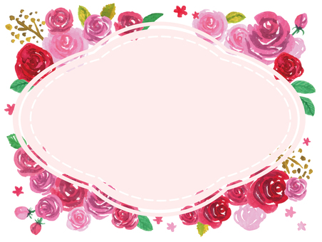 Watercolor Rose frame