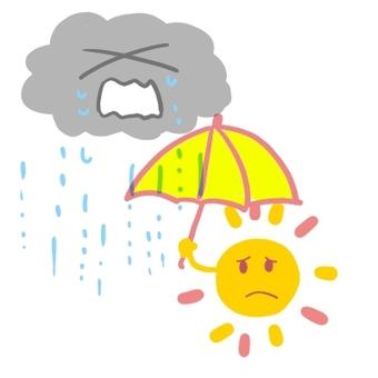 The sun and the rain