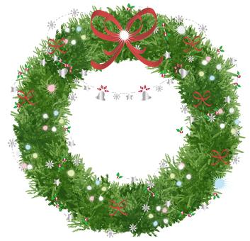 Christmas wreath (silver)