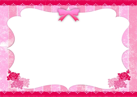 Ribbon stripe card