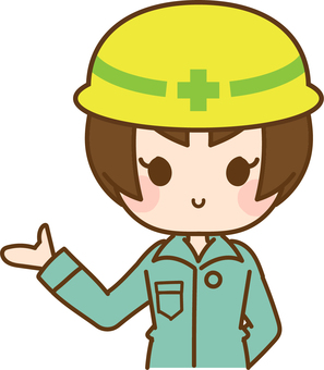 Construction industry information woman