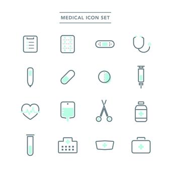 의료 아이콘 세트