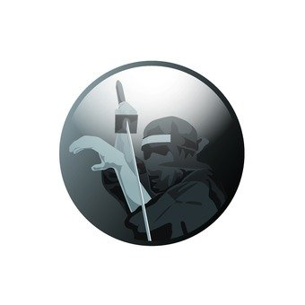 Ninja icon holding a sword
