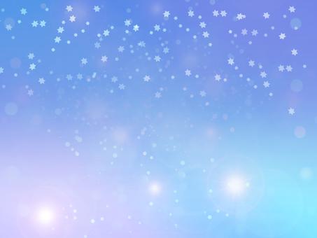 Fairy tale blue night sky