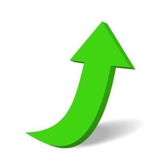 箭头(绿色和厚)