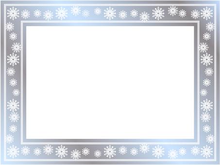 Snow frame (silver color)