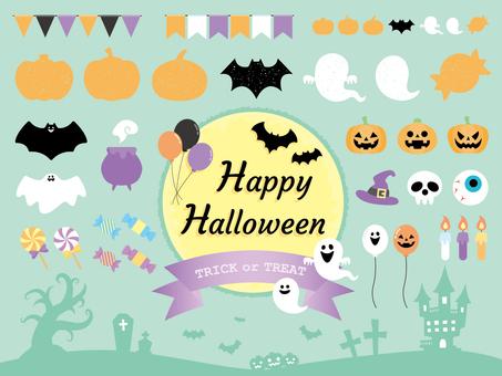 Autumn Halloween frame set