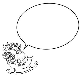 Santa claus speech bubble
