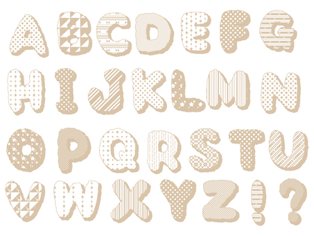 ABC ... alphabet (beige)