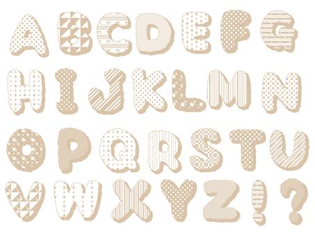 ABC ...字母(米色)