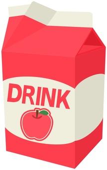Apple juice pack opened