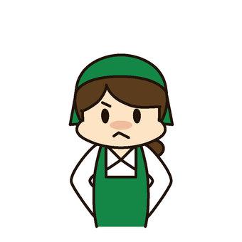 Super female staff anger