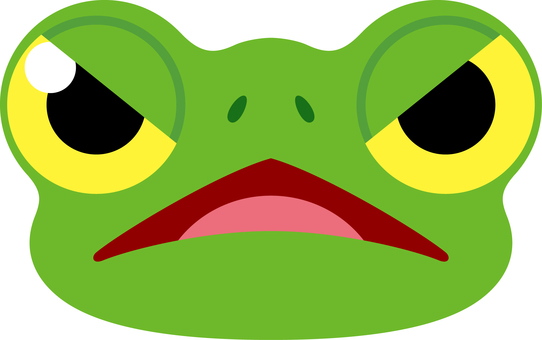Frog expression gets mad