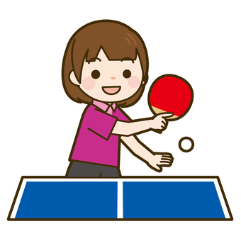 State of game of table tennis (girl)