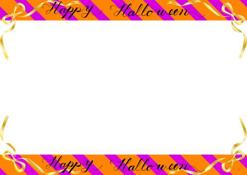 Halloween ribbon stripe frame