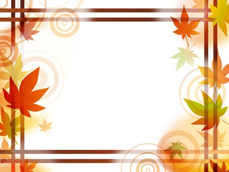 Autumn leaves lattice frame