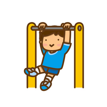 Illustration of a boy playing a steel bar