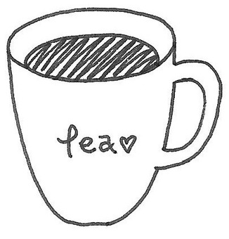 teacup 찻잔 흑백