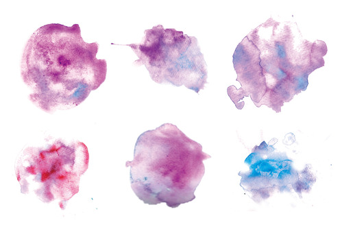Bleeding with watercolor variety