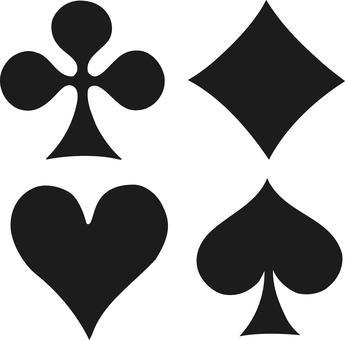 Playing card black