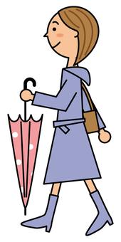 우산을 가진 여자
