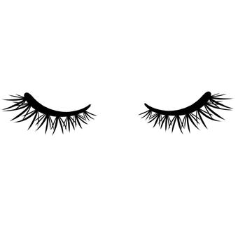 睫毛自然卷閉眼睛