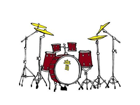 드럼 세트 (png 버전은 배경 투명)