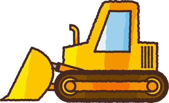 Hand-painted bulldozer