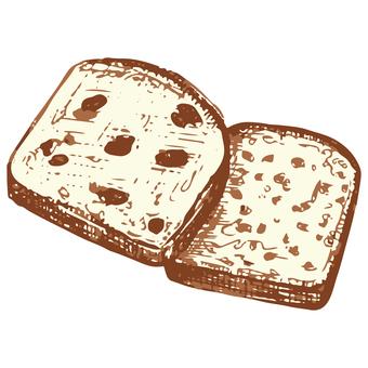 パウンドケーキのスケッチイラスト
