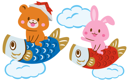 Bear and rabbit on carp streamer