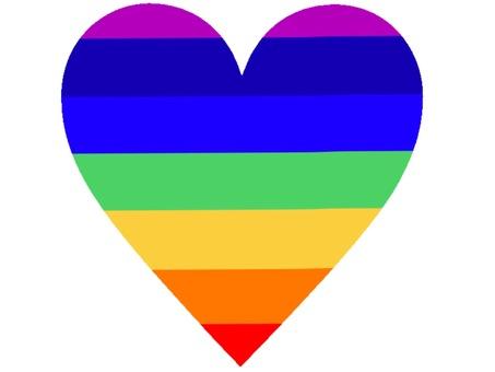 Heart rainbow