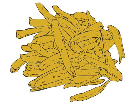 Cut Fried Potato Color