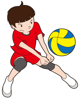 Receiving Volleyball Girl 1