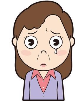 Senior woman (crying)