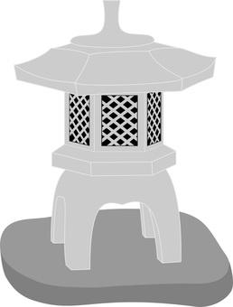 Japanese garden series stone lantern