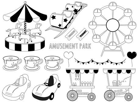 Amusement park monochrome
