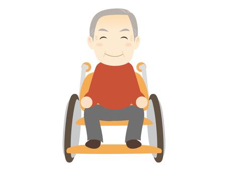 E075_Grandfather in wheelchair