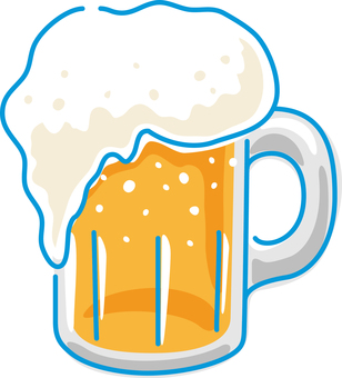 Summer image draft beer mug