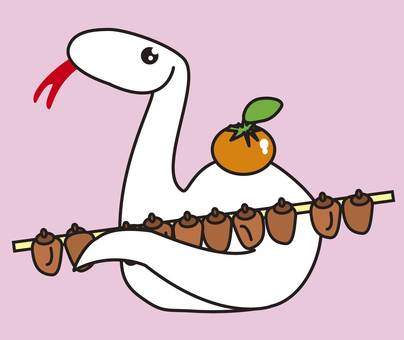 New Year's Povy White Snake _ CS 3