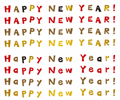 New Year card / / English alphabet