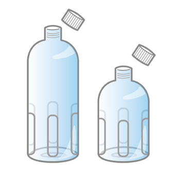 ペットボトル 空 ゴミ イラスト