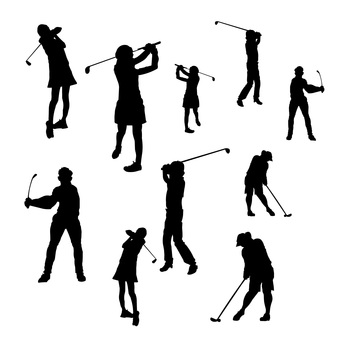 Golf illustration set